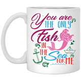 """You Are  Only Fish In Sea For Me""  Coffee Mug (Mermaid Print) - CustomGrace"