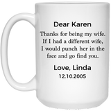 PERSONALIZED WIFEY MUG WITH NAME & DATE
