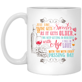 """Just like wine gets sweeter as it gets older....."" Coffee mug - CustomGrace"