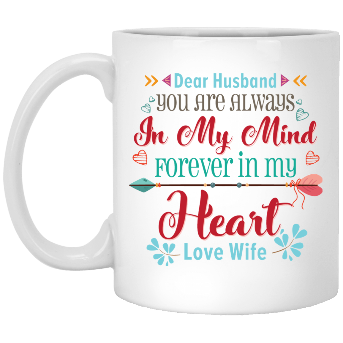 Dear Husband You Are Always In My Mind Coffee Mug Customgrace