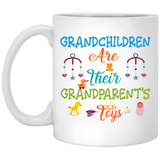 """Grandchildren Are Their Grandparent's  Toys""   Coffee Mug - CustomGrace"