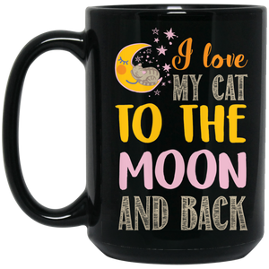 """I Love My Cat To The Moon & Back"" Coffee Mug"