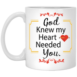 """God Knew My Heart Needed You"" Coffee Mug for Couple - CustomGrace"