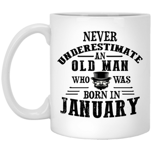 """Never Underestimate an Old Lady Who Was Born In........""  Coffee Mug - CustomGrace"