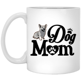 """Dog Mom""   Coffee Mug (Black & White) - CustomGrace"