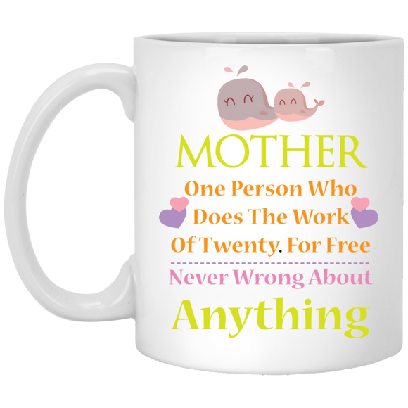 Mother- A Person Who Does The Work for Twenty for Free