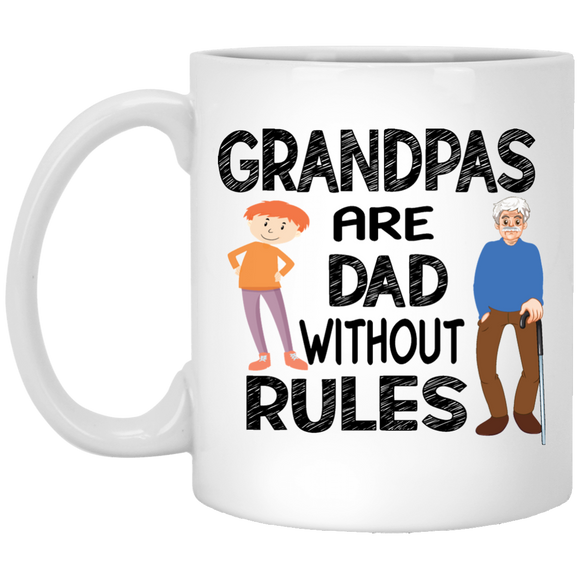 Grandpa White Mug - CustomGrace