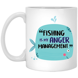 """Fishing Is My Anger Management"" Cute Fish Coffee Mug - CustomGrace"