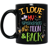 'I love my grand kids to the moon & back' Coffee Mug - CustomGrace
