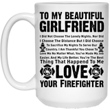 """To My Beautiful Girlfriend""  Coffee Mug"