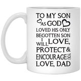 """As God Loved His Only Begotten Son""  Coffee Mug - CustomGrace"
