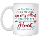 'Dear wife you are always in my mind....' Coffee Mug