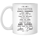 """Always Remember You Are Braver Than You Believe""  Coffee Mug"