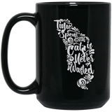 'Time spent with cats is never wasted' coffee mugs - CustomGrace