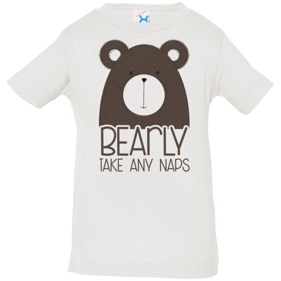 Bearly Takes Any Nap Infant Jersey T-Shirt