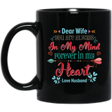 'Dear wife you are always in my mind....' Coffee Mug - CustomGrace