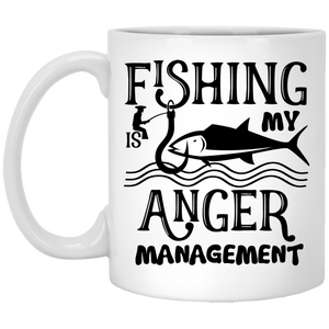 """Fishing Is My Anger Management"" Coffee Mug"