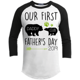 Our First Father's Day Shirt, Onesie, Hoodie