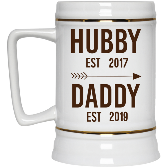 Personalized Beer Stein for New Dads, First Time Dad, Unique Gift for Dad, Being a new Dad, Father's Day Gift