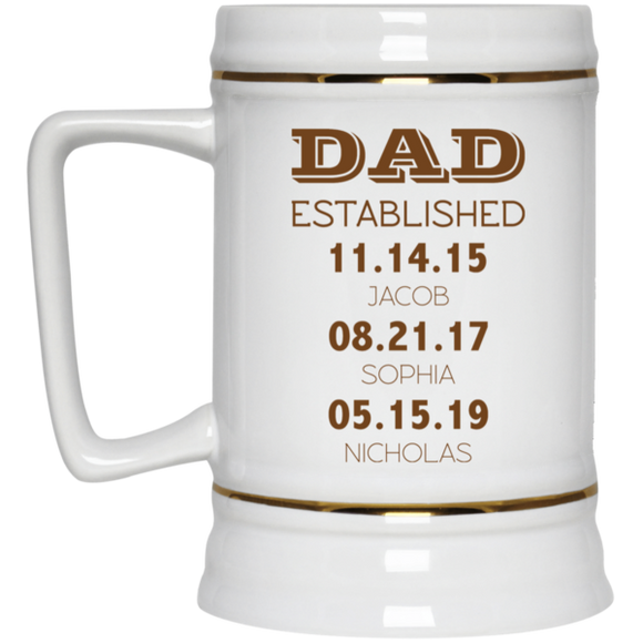 Personalized Beer Stein for Father's Day Gift