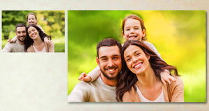 Family Where Life Begins Personalized Painting Canvas