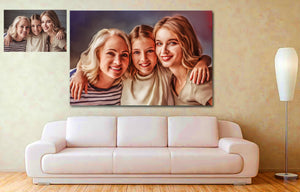 Three Generations Of Love Personalized Painting Canvas