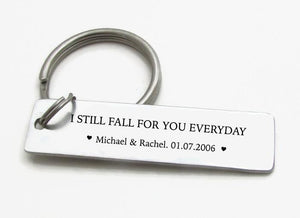 personalized anniversary gift keychain