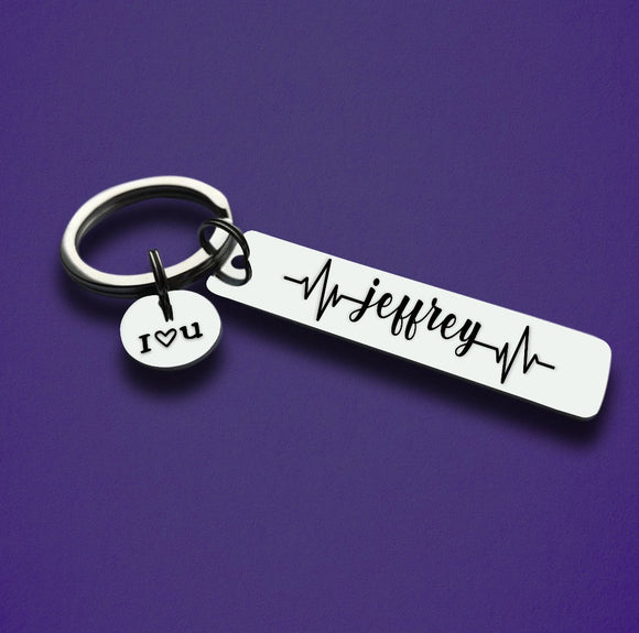 Personalized Heartbeat Keychain