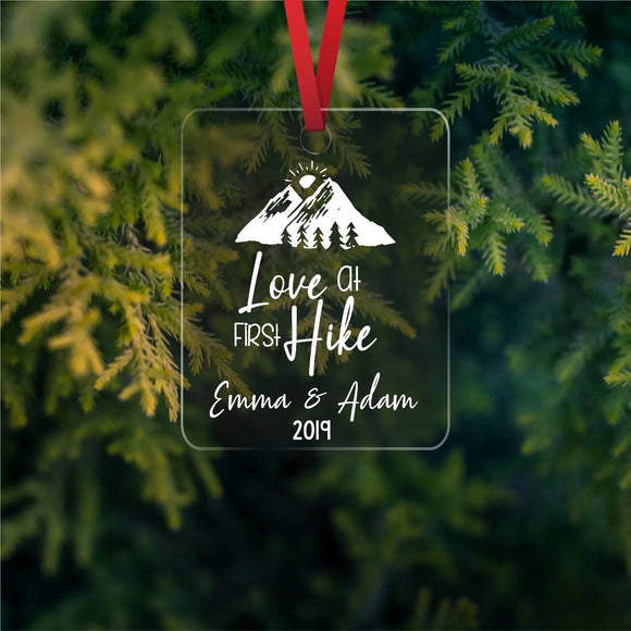 Love at first hike - Personalized Ornament