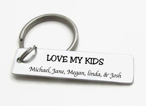 """Love My Kids"" Mothers day Keychain'"