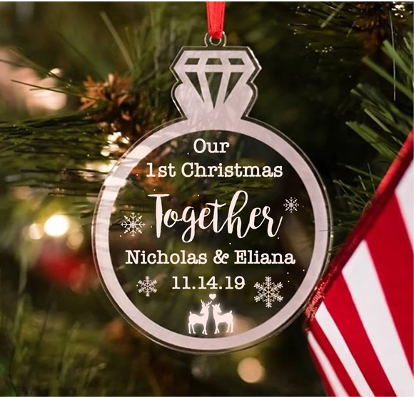 Our First Christmas Together Customised Couple Ornament