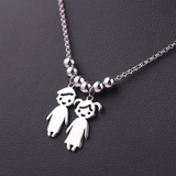 Engraved Mother's Necklace Children Charms