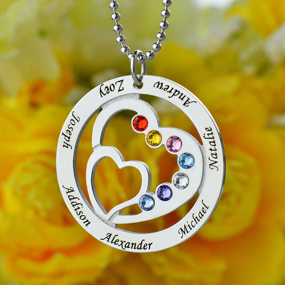 Personalized Necklace with Birthstone