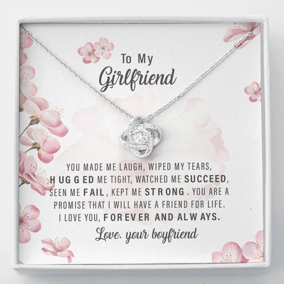 To My Girlfriend - love Knot Necklace