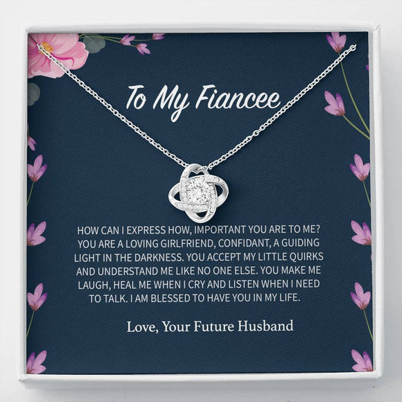 To My Fiancee - Love Knot Necklace