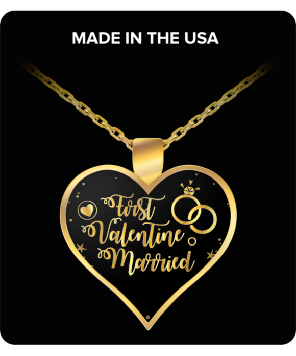 First Valentine Married Necklace