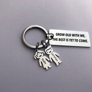 Grow old with me, the best is yet to come - Personalized keychain