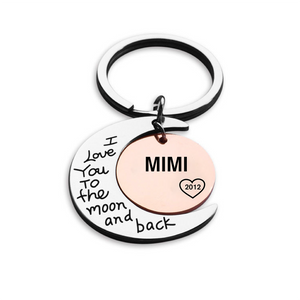 I Love You To The Moon And Back Personalized Keychain