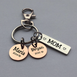 Personalized Mother's Day Bar Charm Keychain