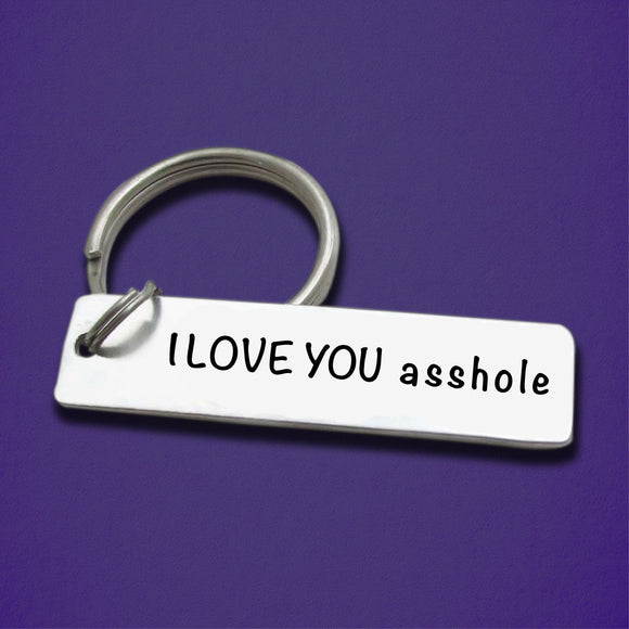 Funny Valentine Day Gift I Love You keychain for Boyfriend, Girlfriend, Couple - CustomGrace