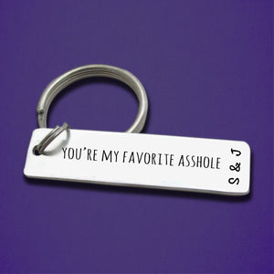 Personalized You're My Favorite Keychain for Valentine's Day