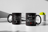You're My Favorite Thing To Do Black Couple Coffee Mug
