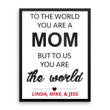 Personalized Mother's Day Gift [Framed Poster]