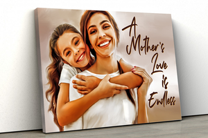 A Mother's Love is Endless Personalized Painting Canvas
