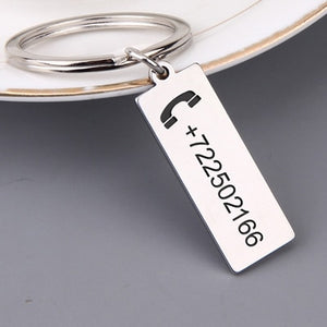 Custom Engraved Anti-lost Keyring Personalized Gift - CustomGrace