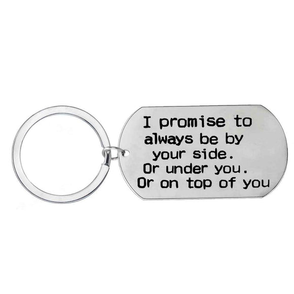 Funny Promise Keychain For Your Love