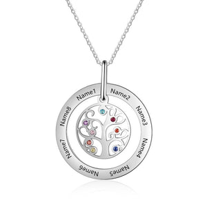 Tree of Life Personalized Family Tree Pendant Necklace