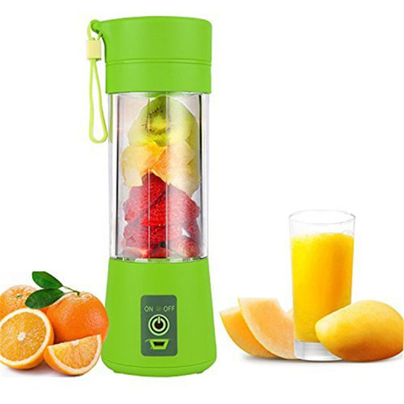 400ml USB Juicer, Portable Juice Blender with Six Blades - CustomGrace