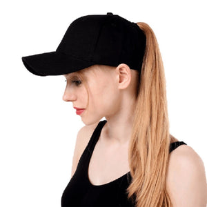 Women's ponytail baseball cap breathable