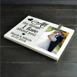 Personalized Picture Frame With Names and Date